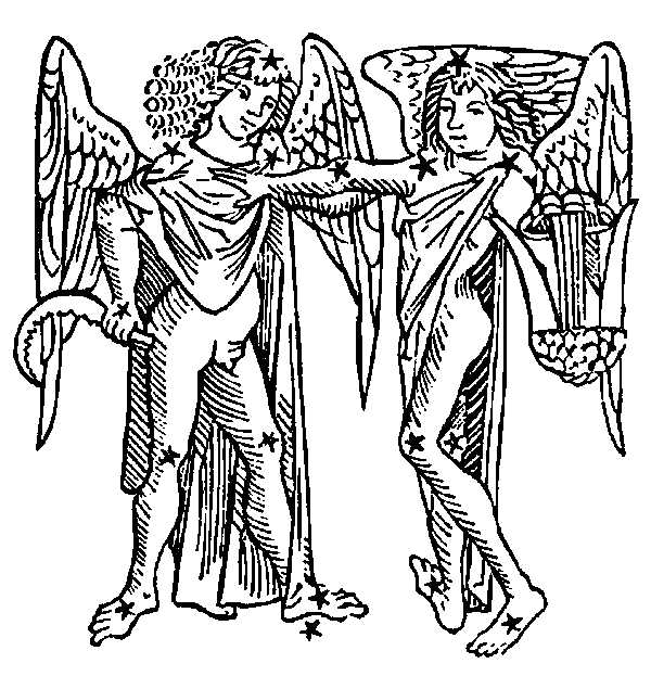 Gemini - Twins. Illustration from a 1482 edition of Poeticon Astronomicon, attributed to Hyginus.