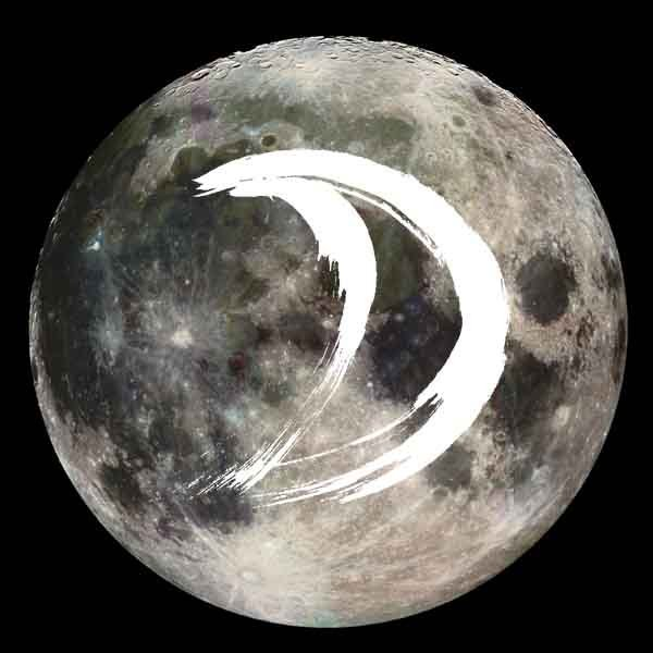 The moon and its glyph.