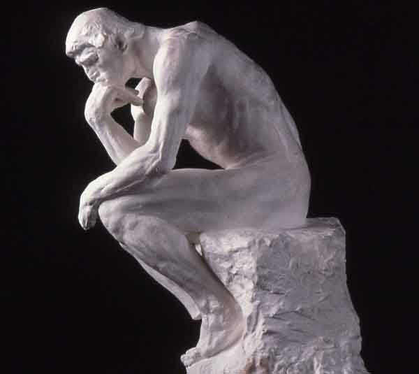 The Thinker. Sculpture by Auguste Rodin, 1902.