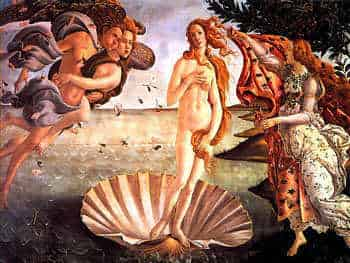 The birth of Venus, by Botticelli.