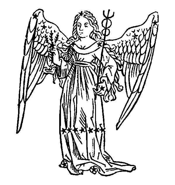 Virgo - Maiden. Illustration from a 1482 edition of Poeticon Astronomicon, attributed to Hyginus.