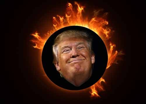 Donald Trump's Solar Eclipse on 21 August 2017.