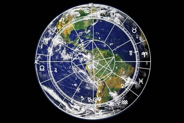 The 2017 World Horoscope over Earth.