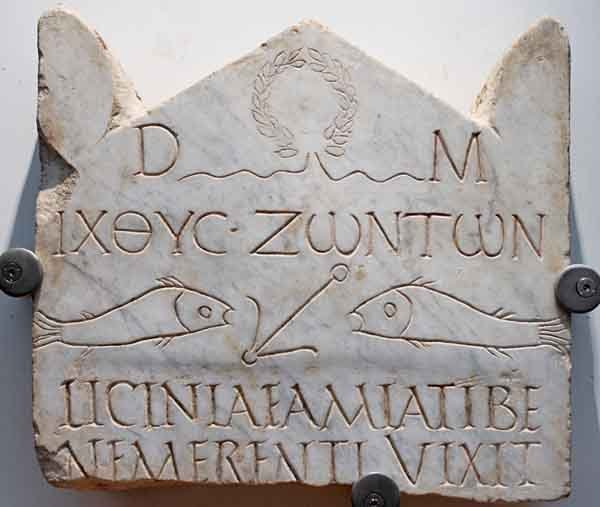 Ichtys funerary stele, from the early 3rd century CE.