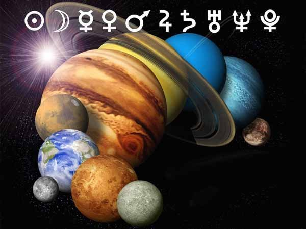 The planets in the horoscope.